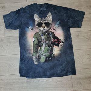 Camo cat t shirt